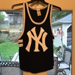 New York yankee pink Victoria secret top